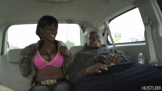 Busty Black Babe Sucking In Automotive With Chocolate Haze