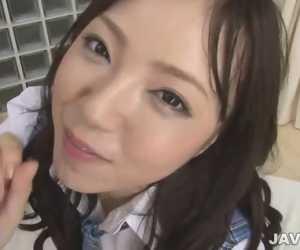 Scorching Asian Schoolgirl Blow Job Porn Session