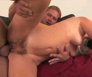 Furry Pussy Crammed With Dick With Kathy Anderson