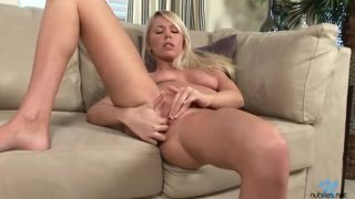 Busty Blonde Explores Her Sexual Facet
