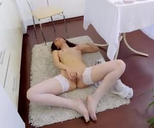 Lovely Lady Subsequent Door Massages Her Pink Twat