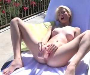 Petite Blonde Newcomer Drills Her Tight Twat