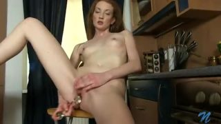 Petite First Timer Toys Her Swollen Twat