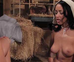 Busty Lesbian Milk Maids In Breanne Benson