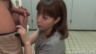 Candy Riho Mikami Kneels To Supply Japanese Blow Job