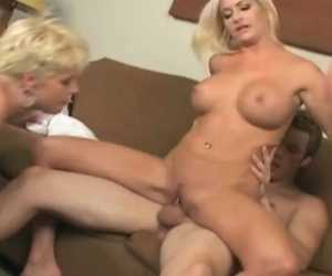 MILF And Tackle Identical Fortunate Man's Cock With Missy Monroe