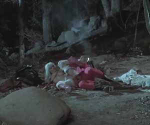 Huge Boob MILF Blows Cowboy By Campfire With Mikki Lynn